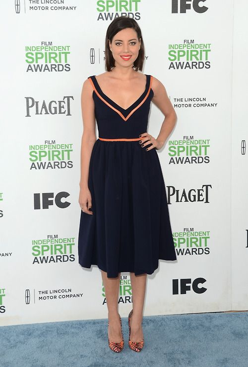 Aubrey Plaza in Preen, Independent Spirit Awards #2014