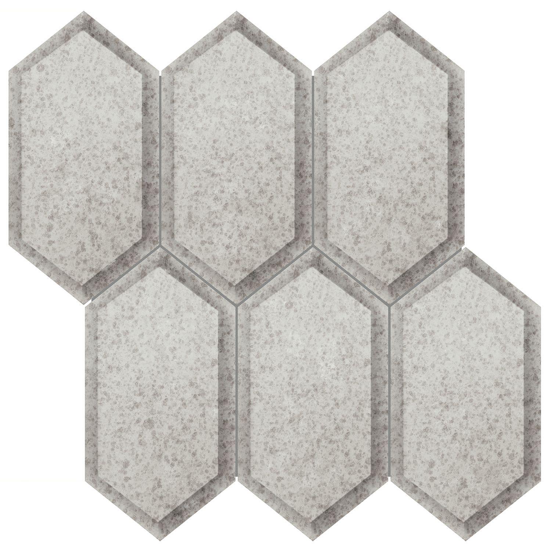 35 142 Obsidian Antique Silver Beveled Crystal Hexagon Mosaic Hexagonal Mosaic Mirror Tiles Antique Mirror Tiles