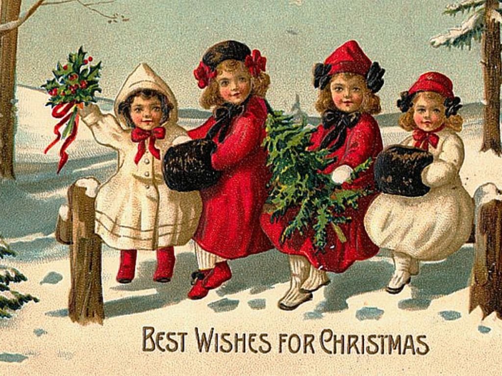 Christmas photos vintage christmas vintage wallpaper for Santa cards pinterest