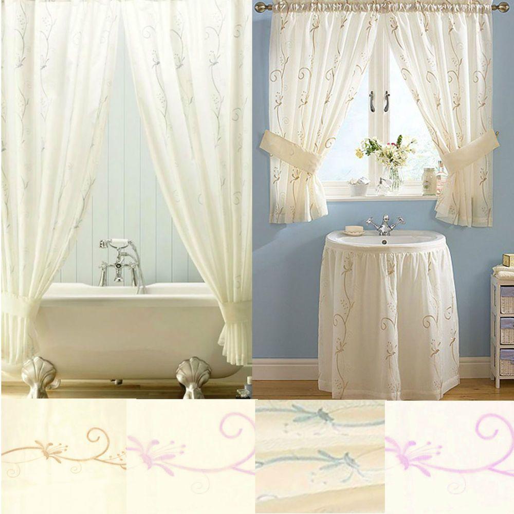 bathroom window curtains uk