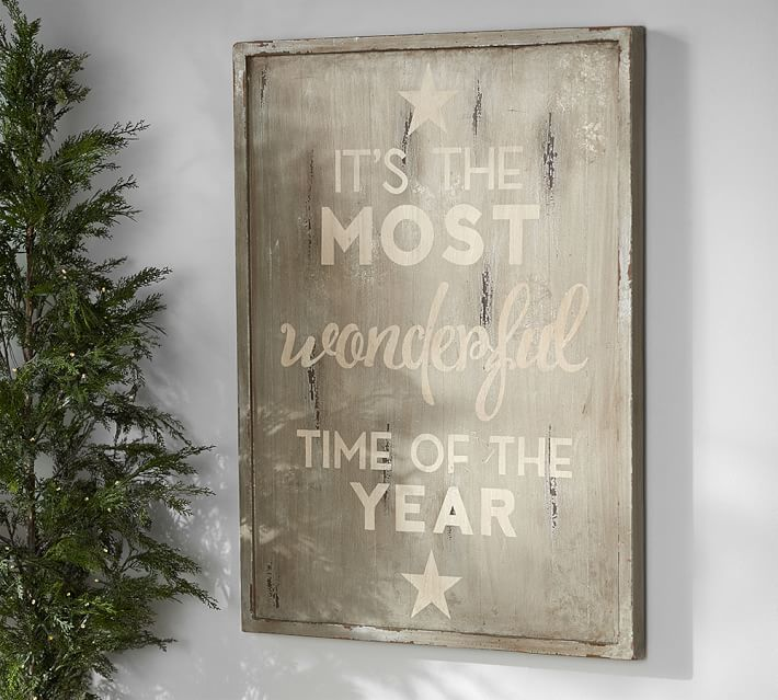 Love This Rustic Wood Sign Quot It S The Most Wonderful Time