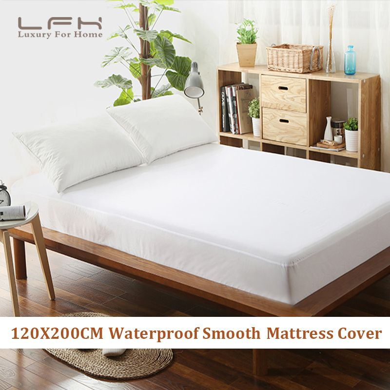 Interior Design LFH 120X200cm Smooth Mattress Pad Cover 100% Waterproof  Mattress Protector Fitted Sheet Style