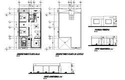 House  plan  elevation and section layout file Open house