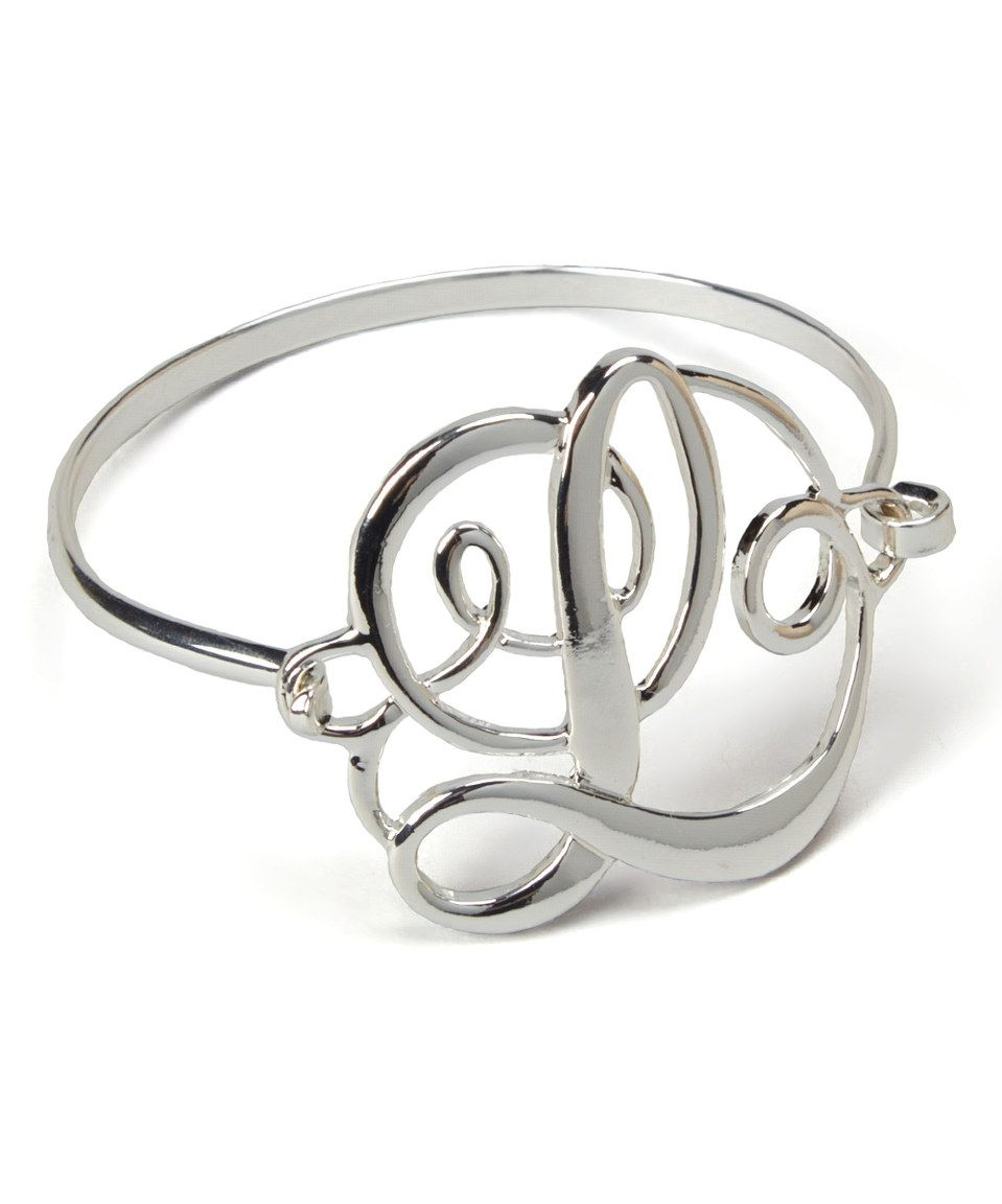 Look what i found on zulily silvertone classic initial bracelet by