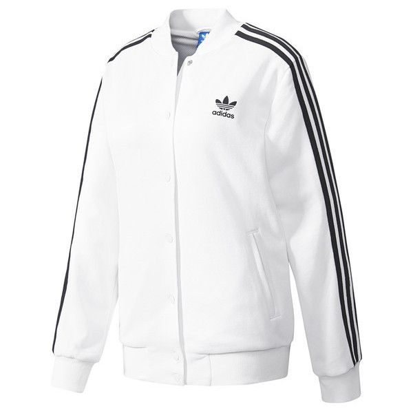2e7f3bdcde5 Veste bomber 3-Stripes Adidas Originals (315 ILS) ❤ liked on Polyvore  featuring outerwear