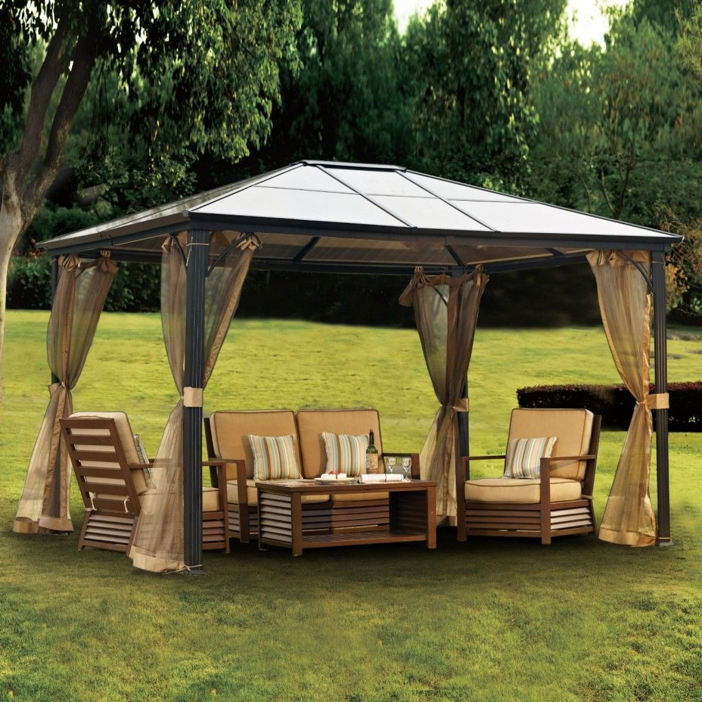 10 X 12 Newport Hardtop Gazebo - The Gazebo is a pavilion construction thatu0027s been put to use for many years as a huge public space for bands to play or f & metal gazebo kits canopy | Metal Gazebo Kits | Pinterest | Metal ...