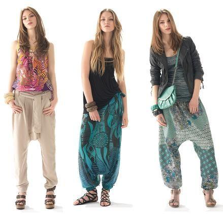 Comodisimo Pantalon Bombacho Mujer Pantalones Cagados Pantalones Hippies Mujer