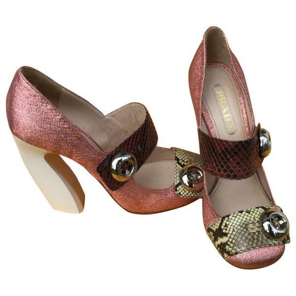 Prada Exotic Leathers Heels am2n5