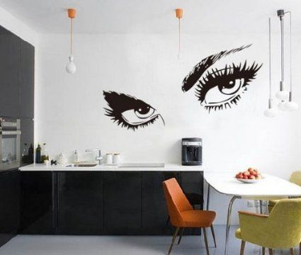 Stickers Audrey Hepburn S Eyes Silhouette Wall Sticker Decals Home Decor Removable Black