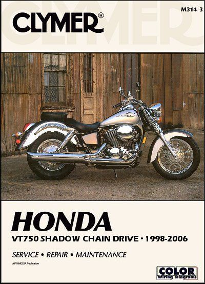 Honda Shadow Vt750 Ace Spirit Ace Deluxe Repair Manual 1998 2006 Honda Shadow Clymer Honda