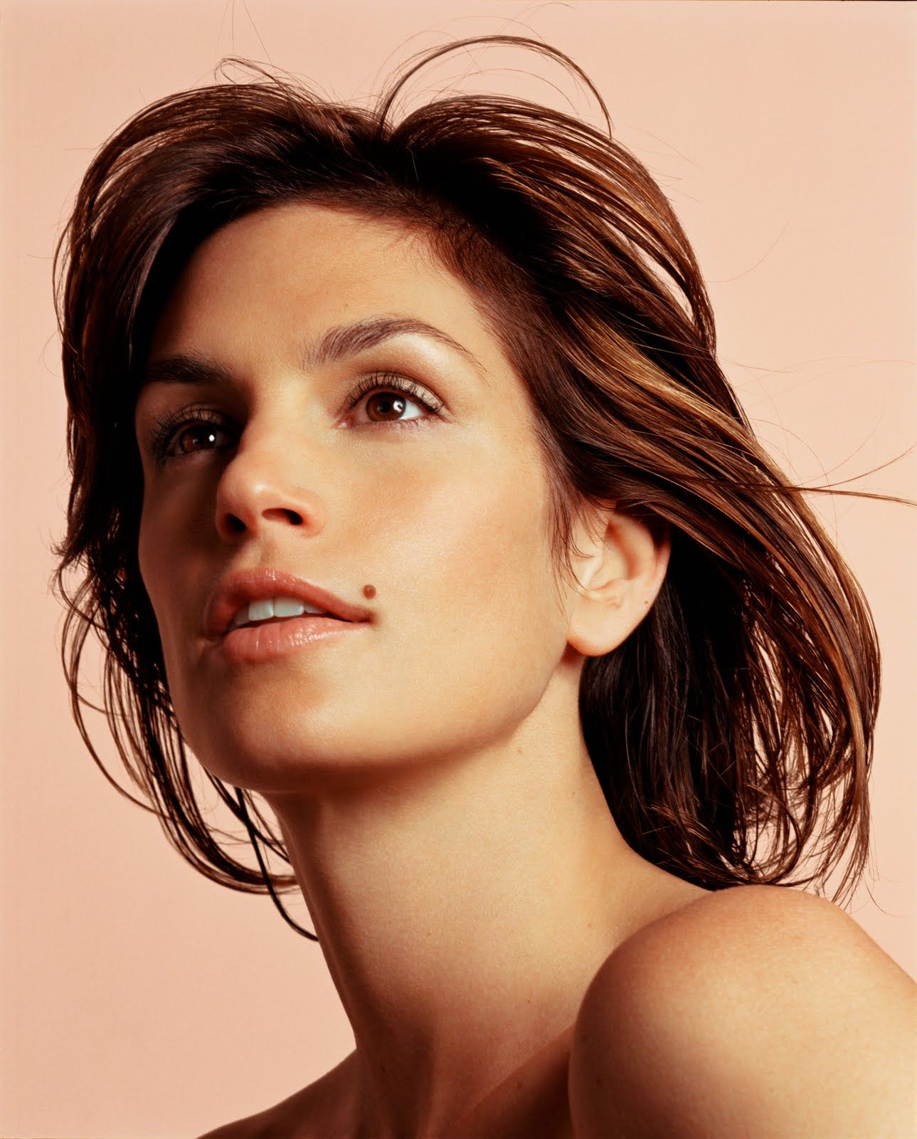 Cindy Crawford's mole is truly beautiful! Skin tag on