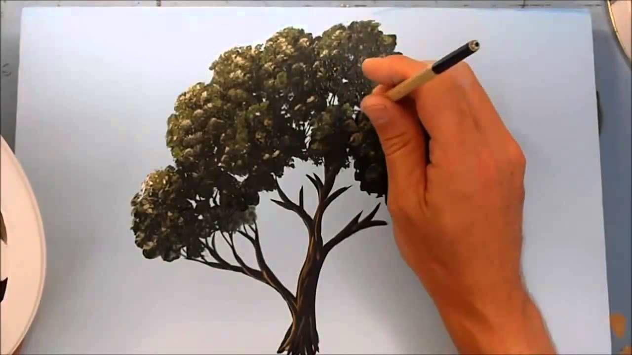 Como Pintar Un Arbol Con Acrilico Pintura De Arbol Tutoriales