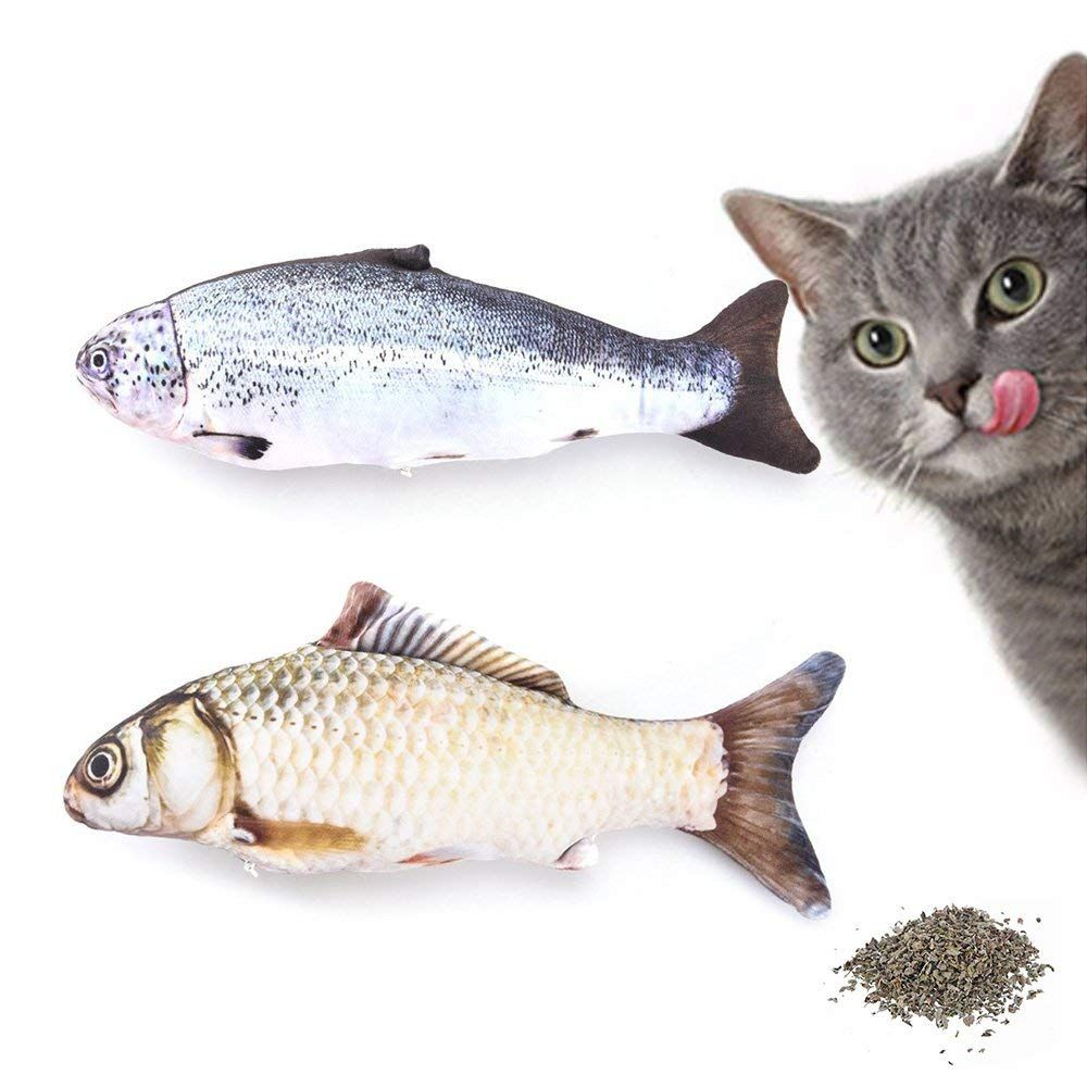 Junbo 2pcs Catnip Fish Toys For Cats Cat Toys Cat Fish Pillow Very Kind Of You To Drop By To Visit Best Interactive Cat Toys Cat Toys Interactive Cat Toys