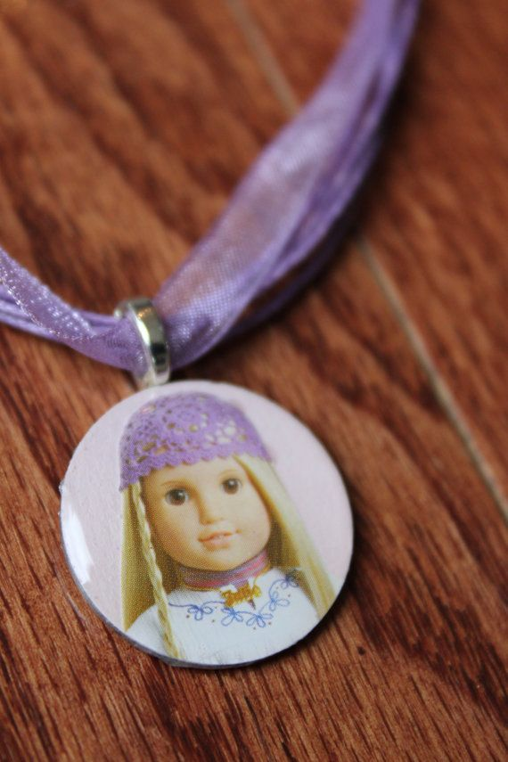 American Girl Pendant Necklace/Party Favors by LaDeDaDesignsShop, $12.50