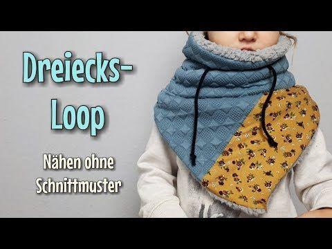 Dreiecksloop - Nähanleitung OHNE Schnittmuster - Für Anfänger ...