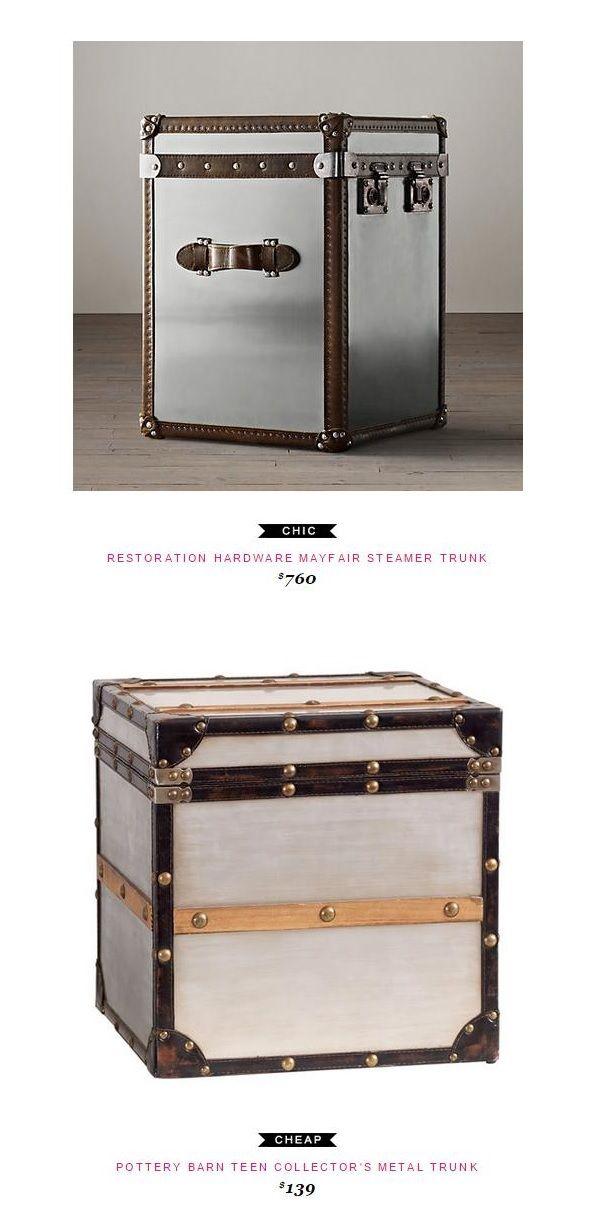 Restoration Hardware Mayfair Steamer Trunk Coffee Table