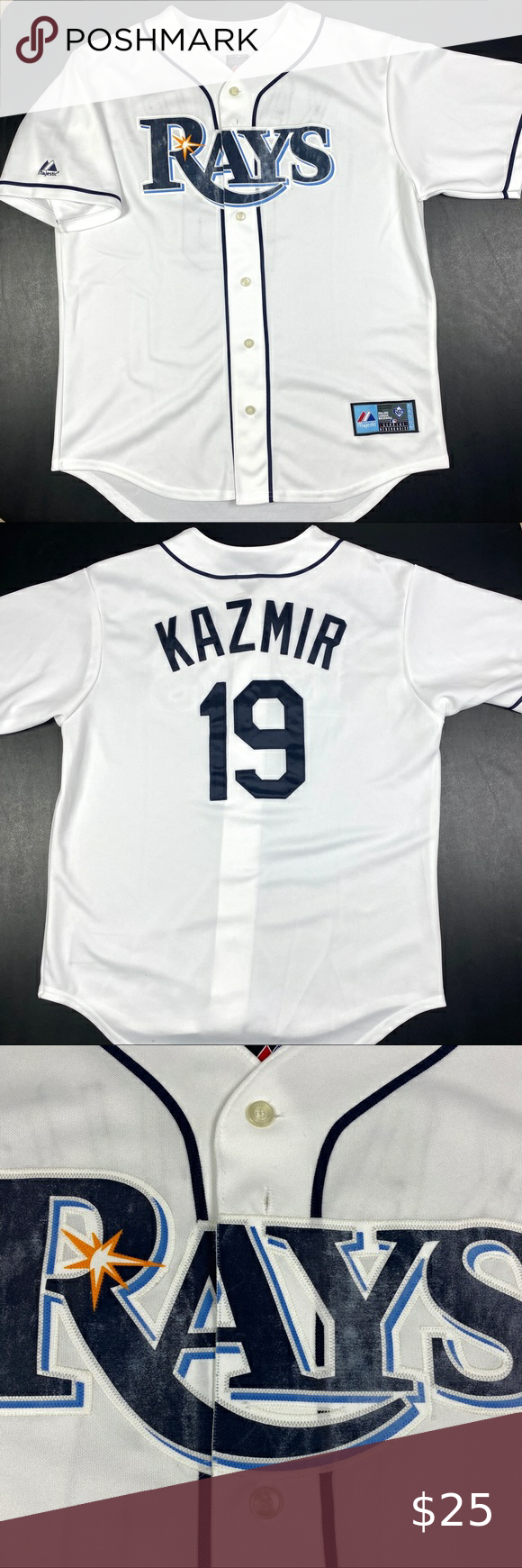 Tampa Bay Rays Scott Kazmir Majestic Jersey Tampa Bay Rays Vgt Majestic Scott Kazmir Home Jersey Jersey Is In In 2020 Majestic Shirts Clothes Design Tampa Bay Rays