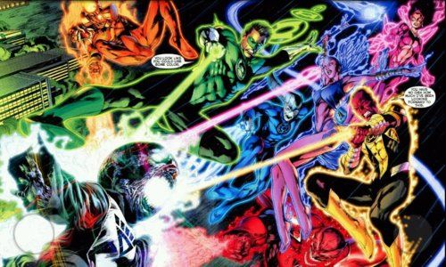 The Guardians vs Black Lanterns