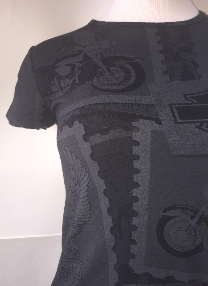 Harley Davidson Orlando Florida Charcoal Gray Black Motorcycle Biker T Shirt S   eBay