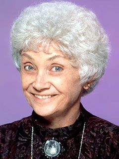 Estelle Getty  (1923 - 2008)  A very caring actor in her support for AIDS foundations and a very gentle and woman who made all of us laugh in her lifetime...will be missed...