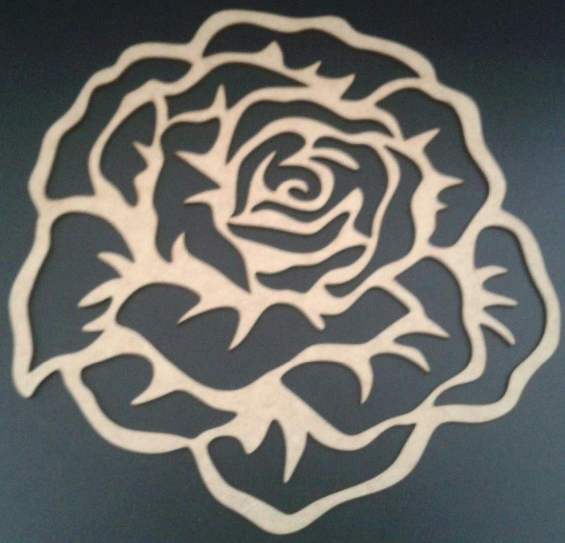 quadro flor,rosa mdf aplique parede escultura s/pintura 50cm