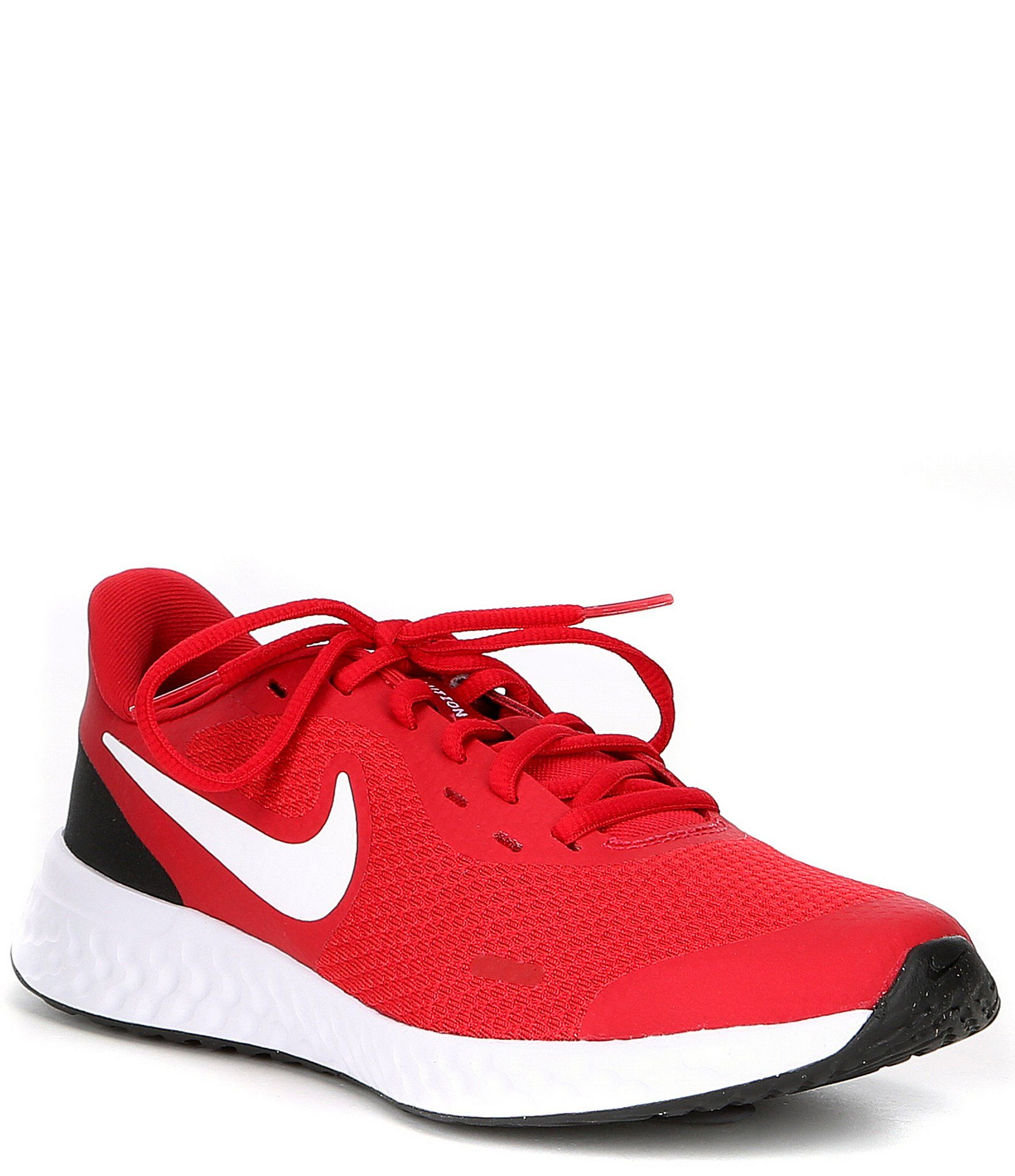 nike big swoosh gym red white black 5