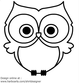 Cute Owl Cartoon Black And White