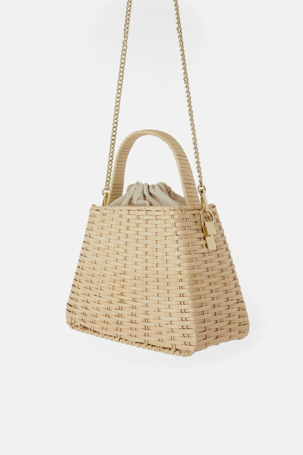 788d37b65bc Natural city bag with chain in 2019 | Bags | City bag, Zara bags, Bags