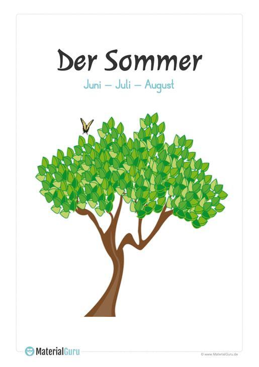 Sommer - Kostenlose Arbeitsblätter | Sommer, Jahreszeiten ...