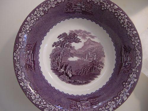 Purple Mulberry Transferware Royal Staffordshire Jenny Lind Vegetable Bowl | eBay