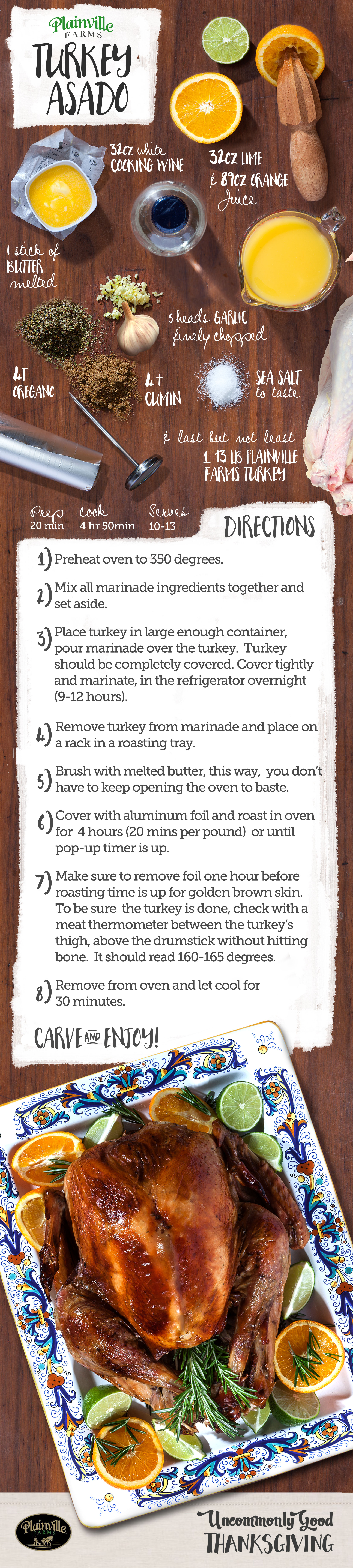 Thankful may be an understatement when you have Turkey this Uncommonly Good. Follow each step to craft a Turkey Asado that's worth eating twice… if only there were leftovers.