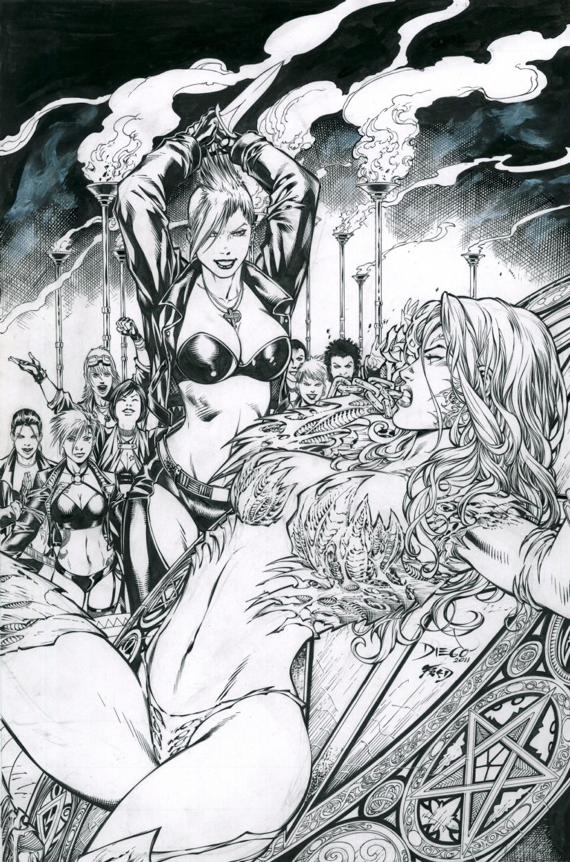 Witchblade porno komiks