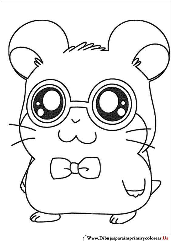 Dibujos de Hamtaro para Imprimir y Colorear | kawaii ♥ | Pinterest ...