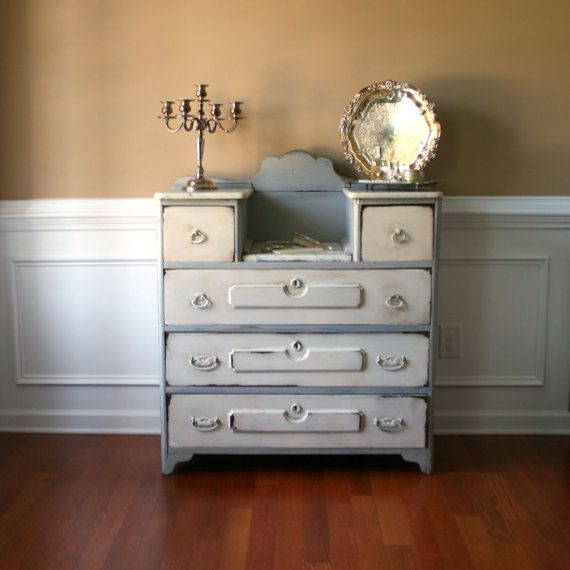 Dresser Highboy Chest Drawers Vanity Antique Shabby Chic Eastlake Victorian Marble Rustic Atlanta