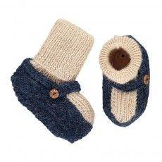 Pantofole Calze Alpaca Blu  indaco