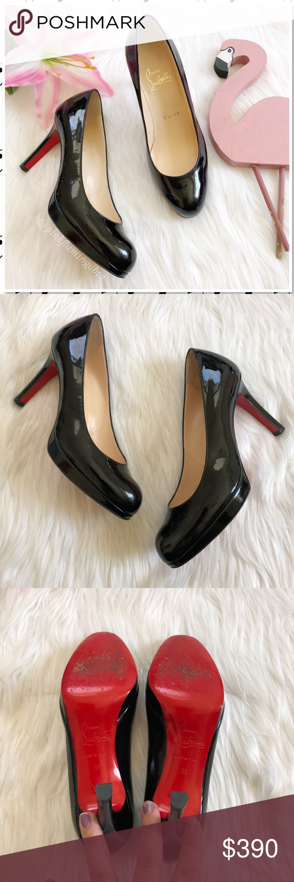 89b2521700d3 Christian Louboutin New Simple Pump 100mm Black 35 Christian Louboutin New  Simple Pump 100mm Black Patent Heels. The updated version of the Simple Pump