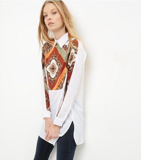 AX Paris - Chemise blanche à imprimé cachemire | New Look