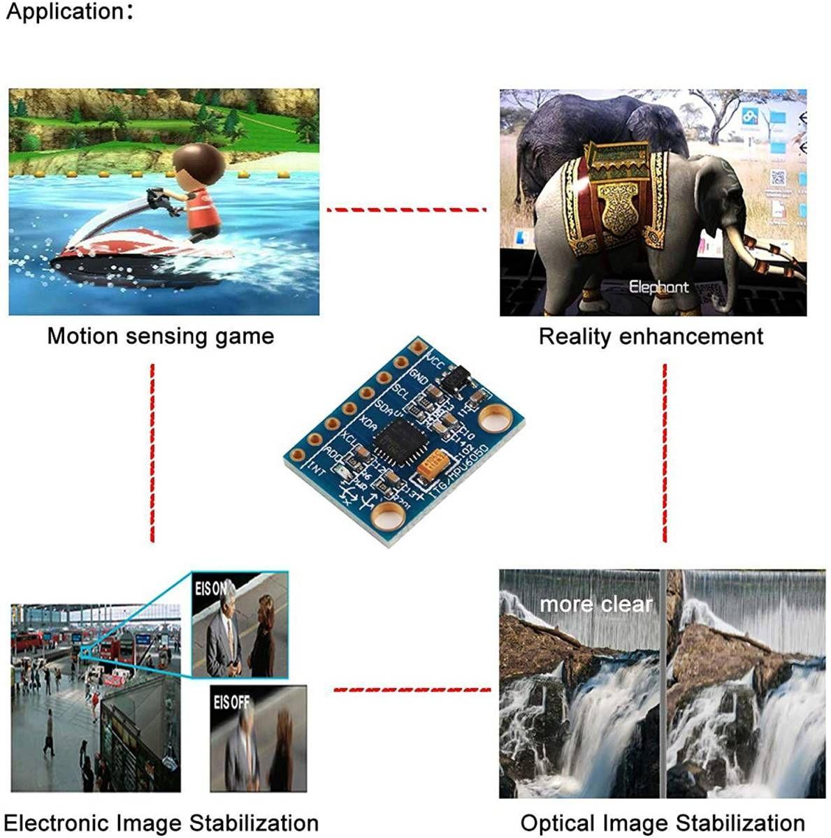 ヤフオク! - 送料0円 MPU-6050 使用 3軸加速度センサー 3軸...