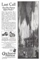 Cyclone Fence Company 1927 Ad Picture