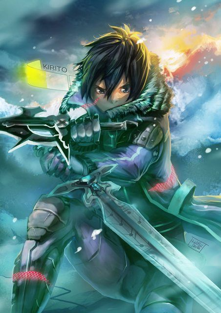 Pin By Tammy On My Geeky Side Sword Art Online Wallpaper Sword Art Online Kirito Sword Art