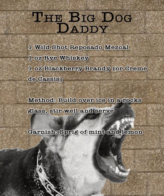 Wild Shot Mezcal: Big Dog Daddy! Find more recipes on Wild Shots Facebook page