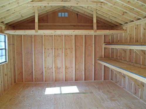 Gambrel garage apartment plans storage shed plans for Apartment garage storage