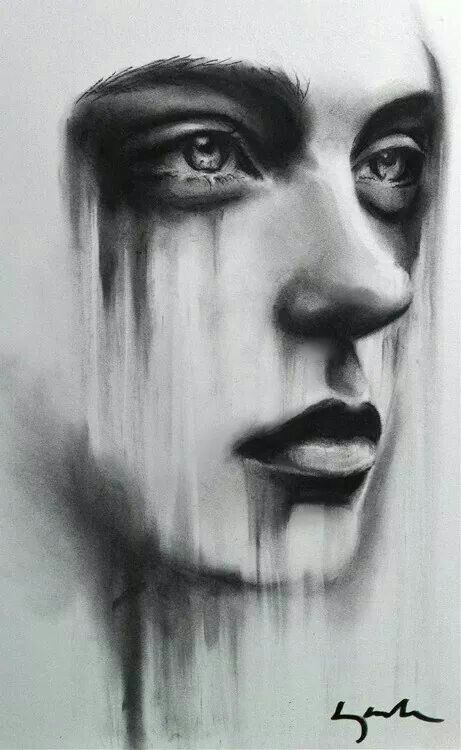 Tears of Pain - the sadness is very real on this picture.