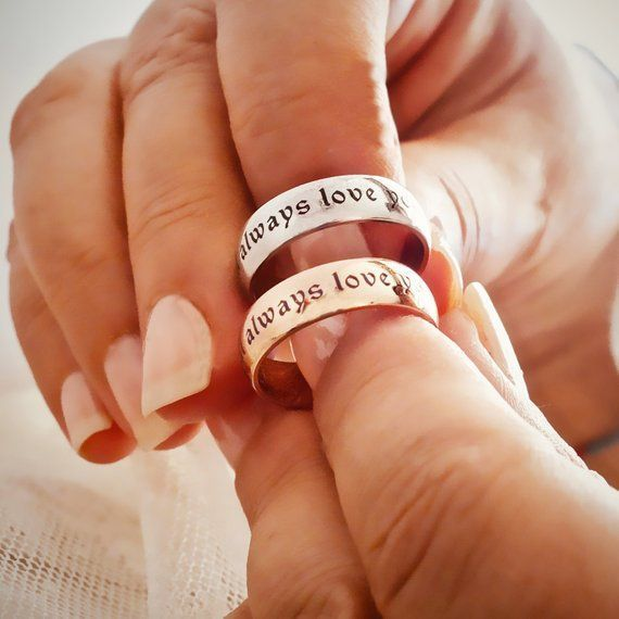 Name Enamel Ring, Customized Name Ring, Wedding Band, Birthday Gift Ring, Custom Engagement Ring, Personalized Silver Ring, Promise Ring