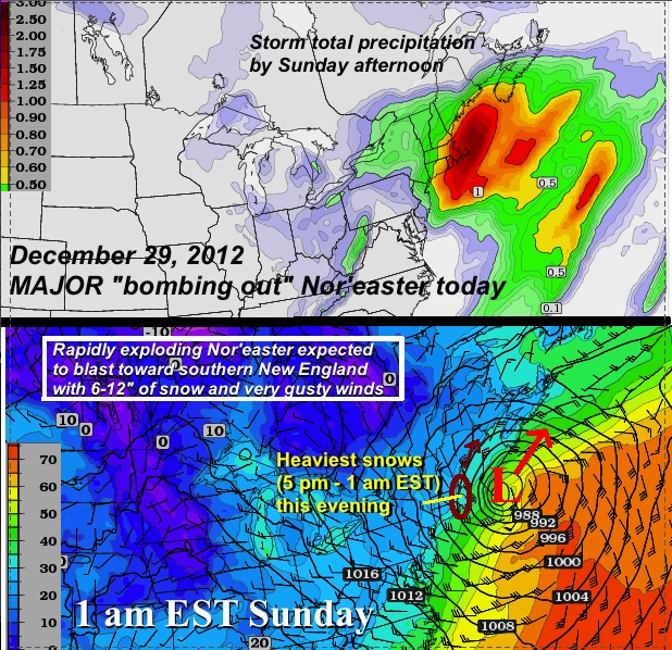 "A Major Coastal Low Or Nor'easter Is Forecast To ""bomb Out"