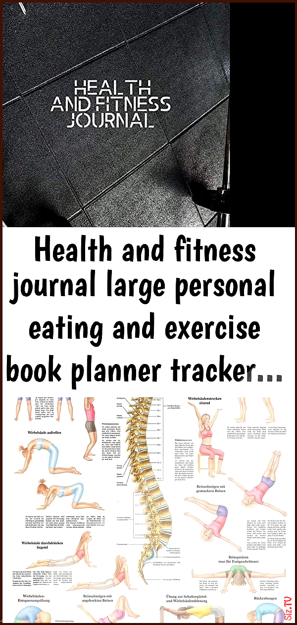 Health and fitness journal large personal eating and exercise book planner tracker  1 Health and fit...
