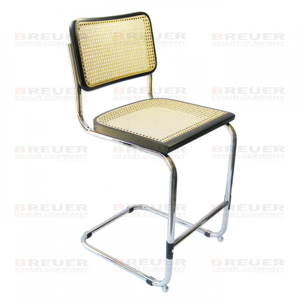 Breuer Chair Company Cesca Bar Stool in Chrome with Cane Seat and ...