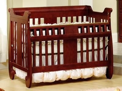 Baby S Dream Generation Next Crib With Safety Gate In Oak Cribs Crib Safety Wooden Swings