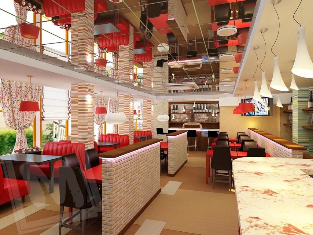 red cafe design cool comedy cafe exterior and interior design