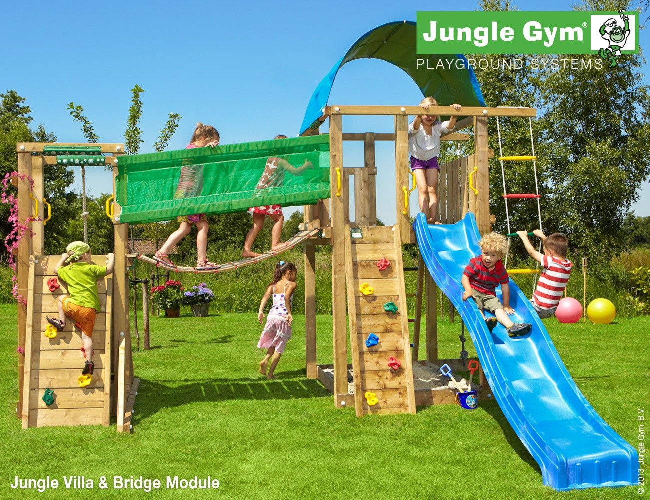 outdoor play equipment by jungle gym jungle villa jungle gym jungle gym kids climbing. Black Bedroom Furniture Sets. Home Design Ideas